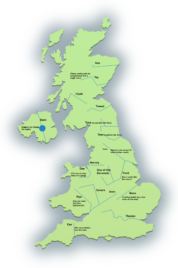 A Map Of The Uk Rivers.The University Of The Bleeding Obvious Rationalising