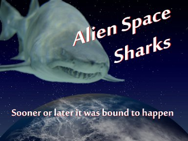 Alien space sharks